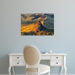 Easy Art Prints Chuck Haney's 'Aerial Of Birdtail Butte' Premium Canvas Art