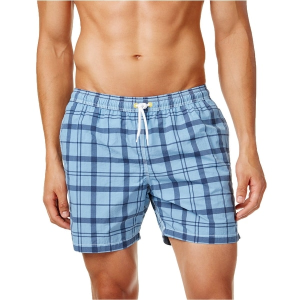 60a34ed809 Shop Barbour NEW North Sea Blue Plaid Mens Size 2XL Swim Swimwear Trunks - Free  Shipping On Orders Over $45 - Overstock - 19560169