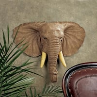 Design Toscano Lord Earl Houghton's Elephant Wall Sculpture