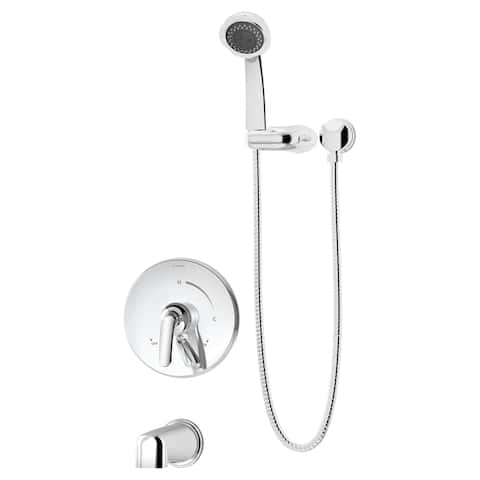 Symmons S-5504-1.5-TRM Elm Tub and Shower Trim Package with 1.5 GPM Multi Function Hand Shower