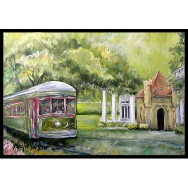 Carolines Treasures MW1091MAT 18 x 27 in. Streetcar Next Stop Audubon Park Indoor & Outdoor Doormat