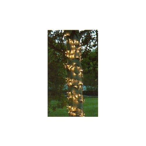 "Wintergreen Lighting 15258 Mini 6"" x 15' Trunk Wrap Lights with 150 Lamps and Green Wire"