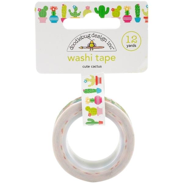Doodlebug Washi Tape 15mmX12yd-Cute Cactus
