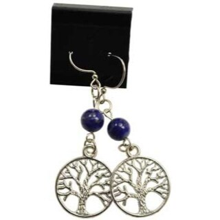 Lapis Tree of Life earrings