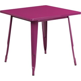Brimmes Square 31.5'' Purple Metal Table for Indoor/Outdoor/Patio/Bar/Restaurant
