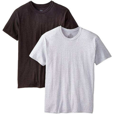 Hanes 2165P2-XL ComfortSoft Crew Tee-Shirt for Men's, Extra Large, 2-Pack