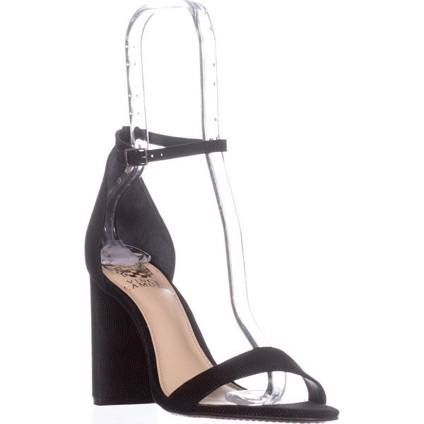 Vince Camuto Mairana Ankle Strap Block Heel Dress Sandals, Black