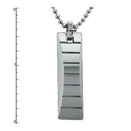 Tungsten Carbide Pendant on 22 Inch Bead Chain