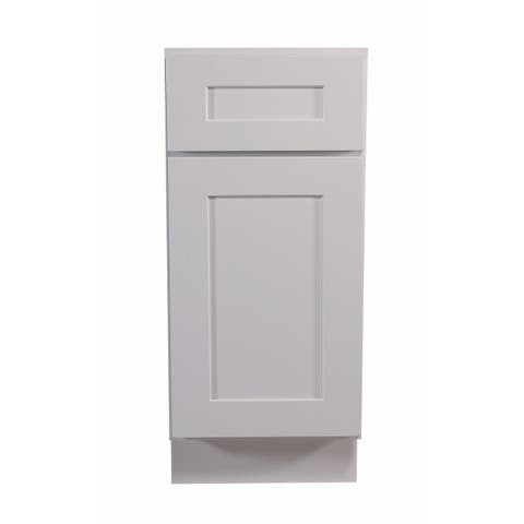 """Design House 561324 Brookings 12"""" Wide x 34-1/2"""" High Single Door Base Cabinet with Single Drawer - White"""