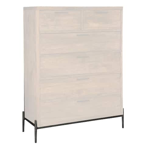 Bedford Park Contemporary Modern, Industrial-Chic, 6 Drawer Storage Hall Chest, Tall Bedroom Dresser