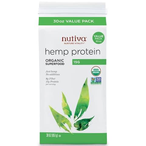 Nutiva Organic Hemp Protein - 15 g Raw Orgainc Protein - 30 oz