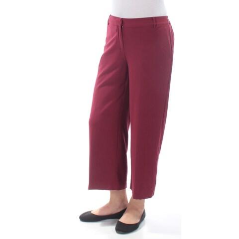 KENSIE Womens Maroon Wear To Work Pants Size: M