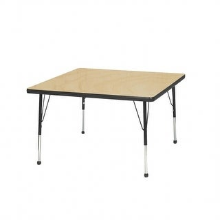 Mahar Manufacturing M36SQGT-SB 36 in. Square Activity Table with Maple Top & Graphite Edge - Standard Leg Ball Glides