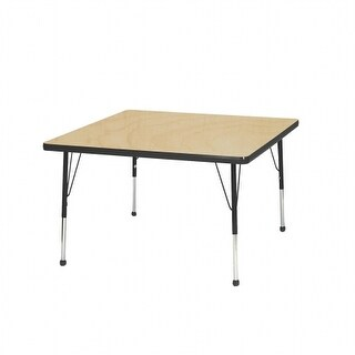 Mahar Manufacturing M36SQSA-SB 36 in. Square Activity Table with Maple Top & Sour Apple Edge - Standard Leg Ball Glides
