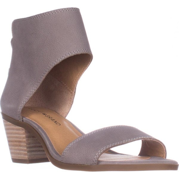 Lucky Barbina Low-Heel Ankle Strap Sandals, Driftwood