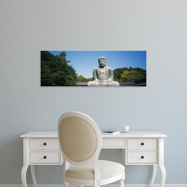 Easy Art Prints Panoramic Images's 'Statue of the Great Buddha, Kamakura, Honshu, Japan' Premium Canvas Art