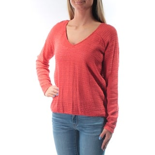 SANCTUARY Womens Orange Long Sleeve Jewel Neck Sweater  Size XS