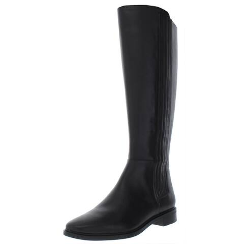 Calvin Klein Womens Finley Riding Boots Leather Knee-High
