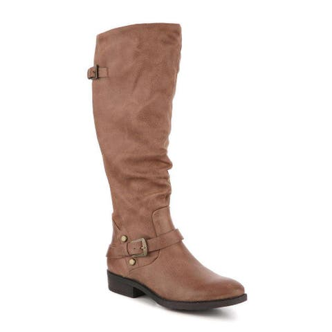 Bare Traps Womens YANESSA2 Fabric Almond Toe Knee High Fashion Boots