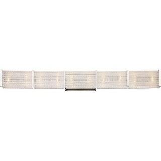 """Platinum PRN8610 Paragon 10 Light 36"""" Wide Bathroom Bath Bar with Clear Glass"""