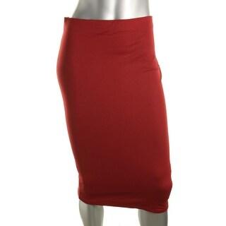 Zara Trafaluc Womens Knit Form Fitting Pencil Skirt