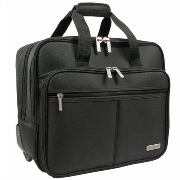 8b29a47ef863 Shop Overland Travelware GB4003 Black Rolling Laptop Case - Free Shipping  Today - Overstock - 25184599