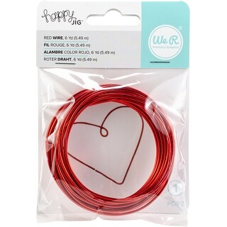 We R Memory Keepers Happy Jig Color Wire 6Yds-Red