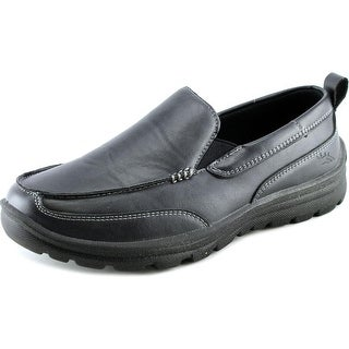 Deer Stags Zesty Youth Round Toe Leather Black Loafer
