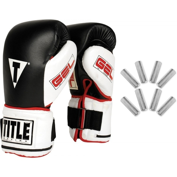 Title Boxing Gel Power Weighted Super Bag Gloves - BLACK/WHITE
