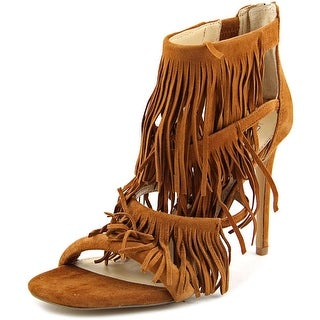Steve Madden Fringly Women Open Toe Suede Brown Sandals