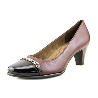 Aerosoles Well Bred Women Round Toe Leather Burgundy Heels