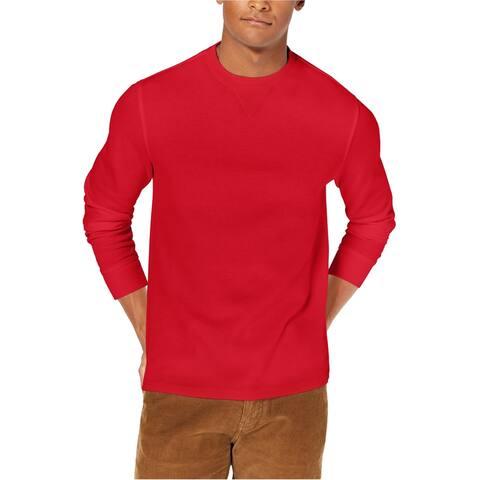 Club Room Mens Flatback Sweatshirt, Red, Small