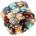 D'AMA 3 Strand Freshwater Cultured Pearl Womens Stretch Ring - Thumbnail 3
