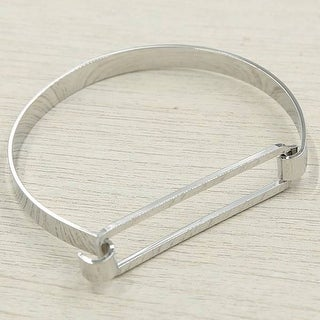 Mad Style Silver Clarity Hinge Bracelet