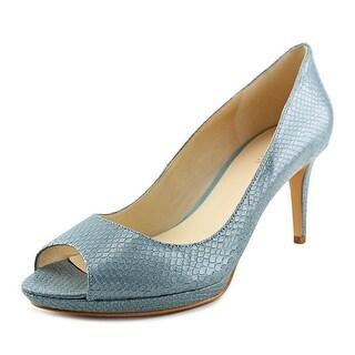 Nine West Gelabelle Women Open-Toe Leather Heels