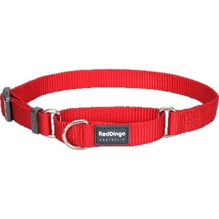 Red Dingo MC-ZZ-RE-LG Martingale Dog Collar Classic Red, Large
