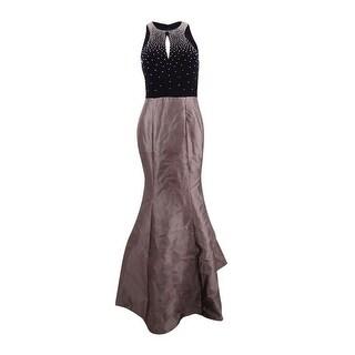 Xscape Women's Embellished Open-Back Mermaid Gown - black combo