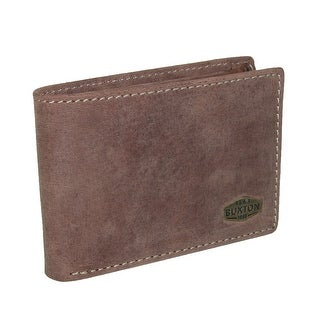 Buxton Men's Expedition Leather RFID Slimfold Wallet with ID - Tan - One size