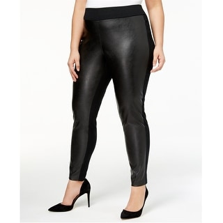 Link to I-N-C Womens Faux Leather Front Casual Leggings Similar Items in Pants