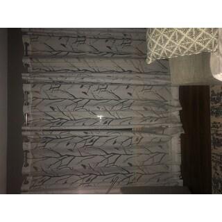 Madison Park Vina Sheer Bird Single Curtain Panel