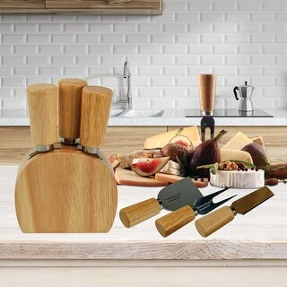 KitchenWorthy 4 Piece Cheese knife and Block Set (4 Piece) -  290-4PCS