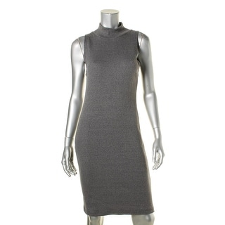 Alternative Apparel Womens Knit Ribbed Wear to Work Dress - L