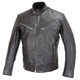 REBEL Men Motorcycle Biker Stylish Black Leather Jacket CE Rated Armor MBJ026