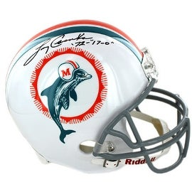Larry Csonka signed Miami Dolphins Full Size Replica TB Helmet w/ dual '72 & 17-0- Steiner Hologram