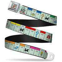 Monopoly Go Space Full Color American Monopoly Board Game Spaces Webbing Seatbelt Belt