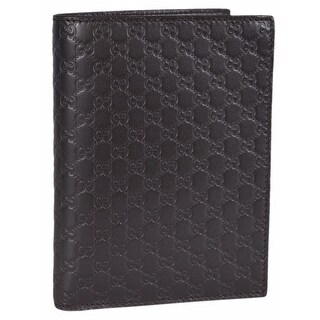 """Gucci Men's 346079 Brown Leather GG Guccissima Passport Holder Bifold Wallet - 5.75"""" x 4.25"""" https://ak1.ostkcdn.com/images/products/is/images/direct/0de9c1563a5c2acec50e56065d2be10cd87e5514/Gucci-Men%27s-346079-Brown-Leather-GG-Guccissima-Passport-Holder-Bifold-Wallet.jpg?_ostk_perf_=percv&impolicy=medium"""