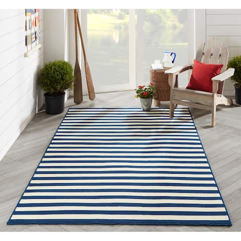 Momeni Baja Stripe Indoor Outdoor Rug