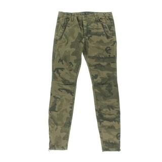 Zara Basic Womens Camouflage Zipper Leg Skinny Jeans - 10