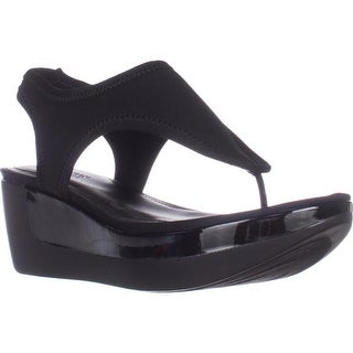 Kenneth Cole REACTION Pepea Star Comfort Wedge Sandals, Black