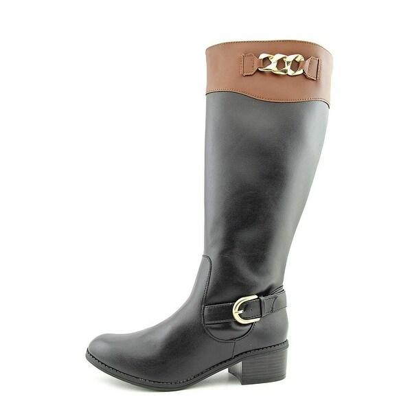 Karen Scott Womens DARLAA Round Toe Mid-Calf Riding Boots
